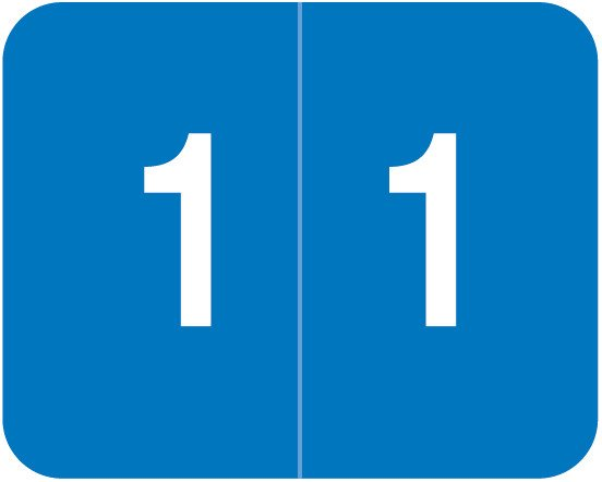 Smead DCCRN Match SENM Series Numeric Roll Labels - Number 1 - Blue