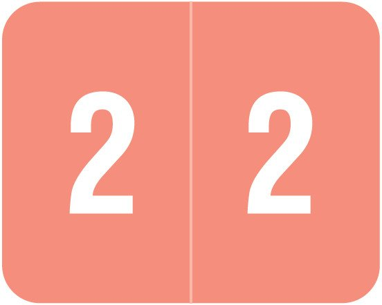 Smead DCCRN Match SENM Series Numeric Roll Labels - Number 2 - Pink