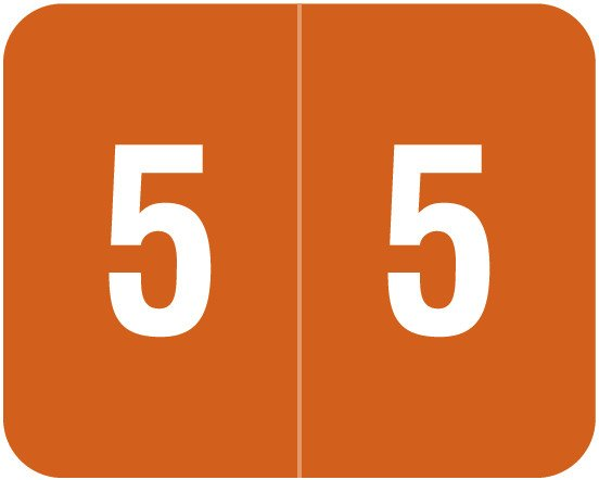 Smead DCCRN Match SENM Series Numeric Roll Labels - Number 5 - Brown