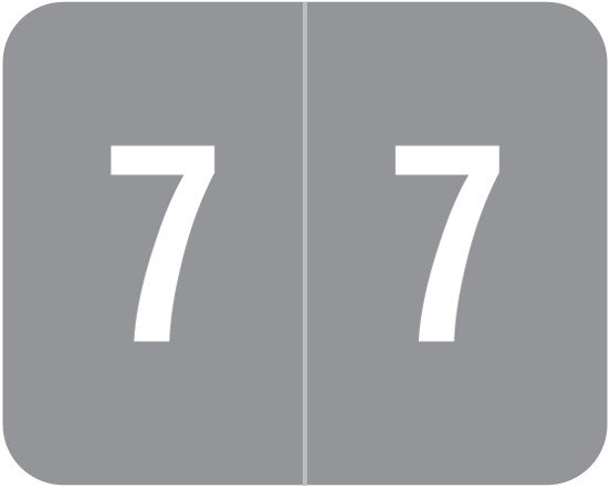 Smead DCCRN Match SENM Series Numeric Roll Labels - Number 7 - Gray