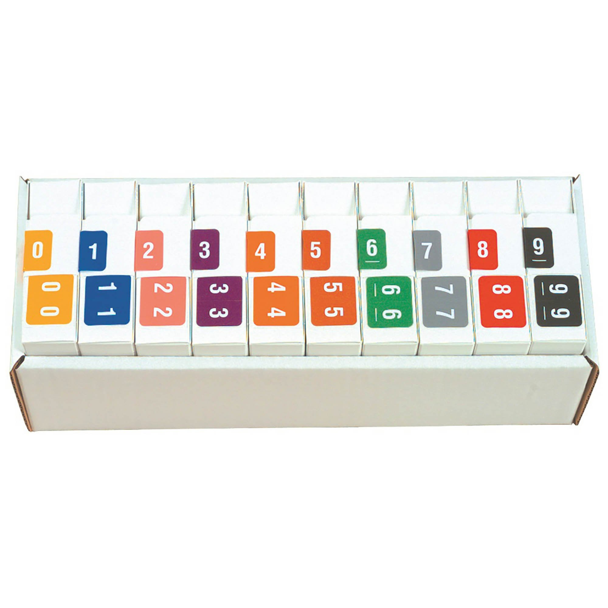 Smead DCCRN Match SENM Series Numeric Roll Labels - Set of Number 0 To 9