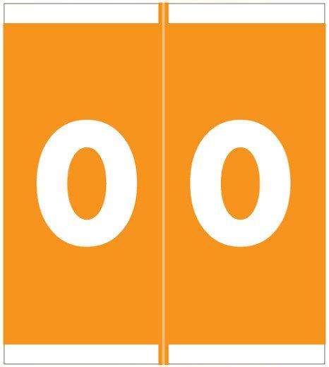 Barkley FNSFM Match SFNM Series Numeric Roll Labels - Number 0 - Orange