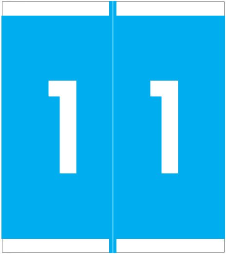 Barkley FNSFM Match SFNM Series Numeric Roll Labels - Number 1 - Blue