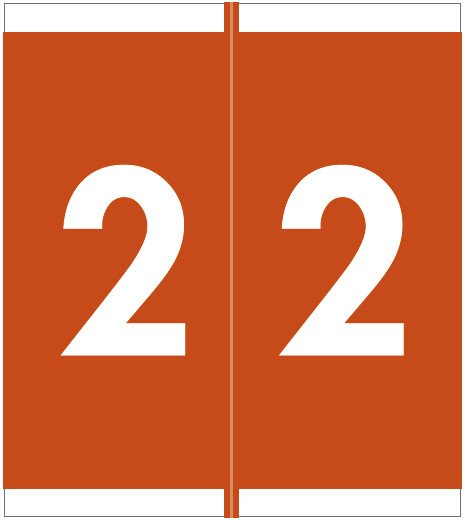 Barkley FNSFM Match SFNM Series Numeric Roll Labels - Number 2 - Brown
