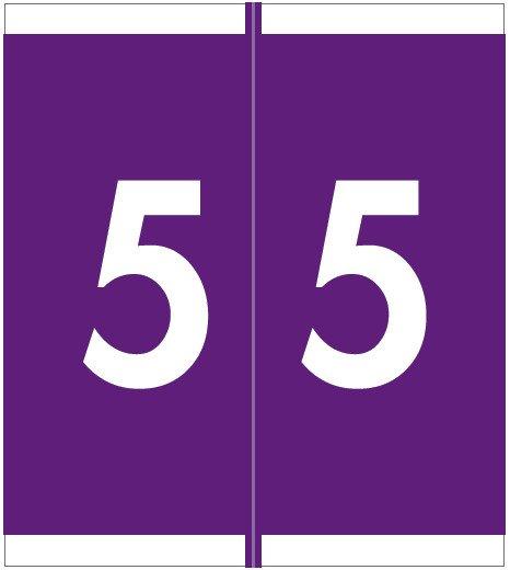 Barkley FNSFM Match SFNM Series Numeric Roll Labels - Number 5 - Purple