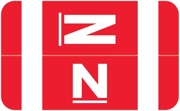 Smead Alpha-Z ACC Match SMAM Series Alpha Roll Labels - Letter N - Red