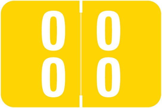 Smead DDS Match SMDM Series Numeric Roll Labels - Number 00 To 09 - Yellow