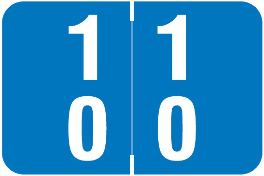 Smead DDS Match SMDM Series Numeric Roll Labels - Number 10 To 19 - Blue