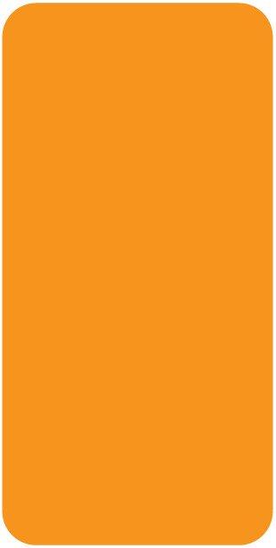 Smead CC Match SMLP Series Solid Color Roll Labels - Orange