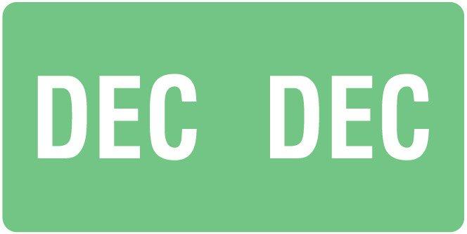 Smead ETS Match SMMK Series Month Code Sheet Labels - December - Light Green