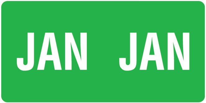 Smead ETS Match SMMK Series Month Code Sheet Labels - January - Dark Green