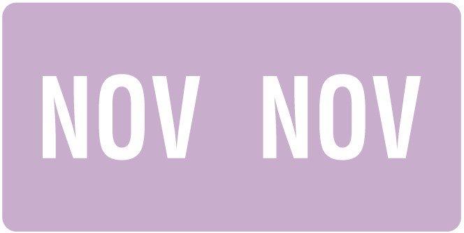 Smead ETS Match SMMK Series Month Code Sheet Labels - November - Lavender