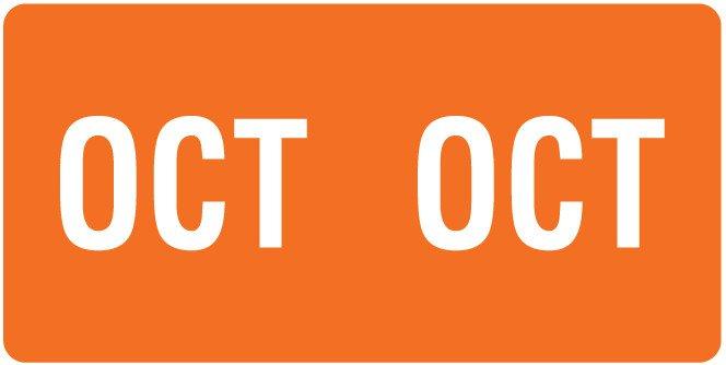 Smead ETS Match SMMK Series Month Code Sheet Labels - October - Orange