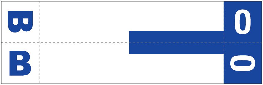 Smead NCC Match SNCC Series Alpha Sheet Labels - Letter B & O - Dark Blue
