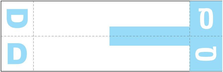 Smead NCC Match SNCC Series Alpha Sheet Labels - Letter D & Q - Light Blue