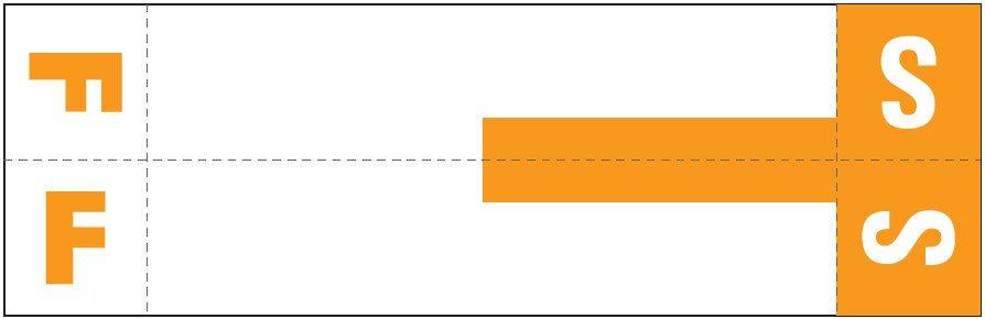 Smead NCC Match SNCC Series Alpha Sheet Labels - Letter F & S - Orange