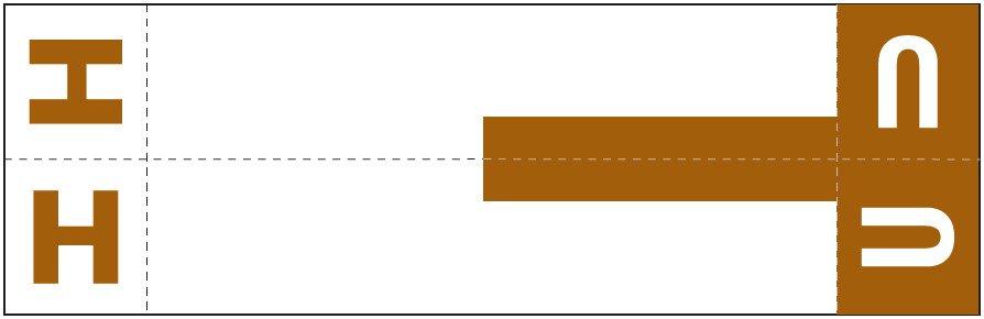 Smead NCC Match SNCC Series Alpha Sheet Labels - Letter H & U - Dark Brown