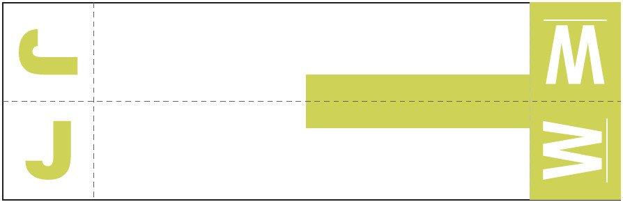 Smead NCC Match SNCC Series Alpha Sheet Labels - Letter J & W - Yellow