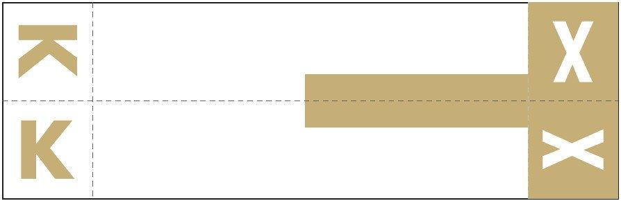 Smead NCC Match SNCC Series Alpha Sheet Labels - Letter K & X - Light Brown