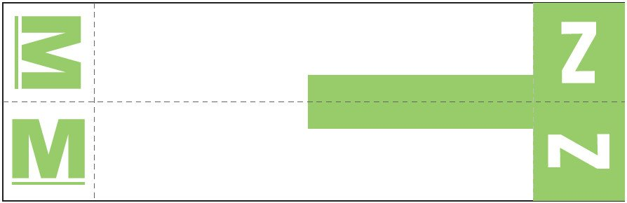 Smead NCC Match SNCC Series Alpha Sheet Labels - Letter M & Z - Light Green
