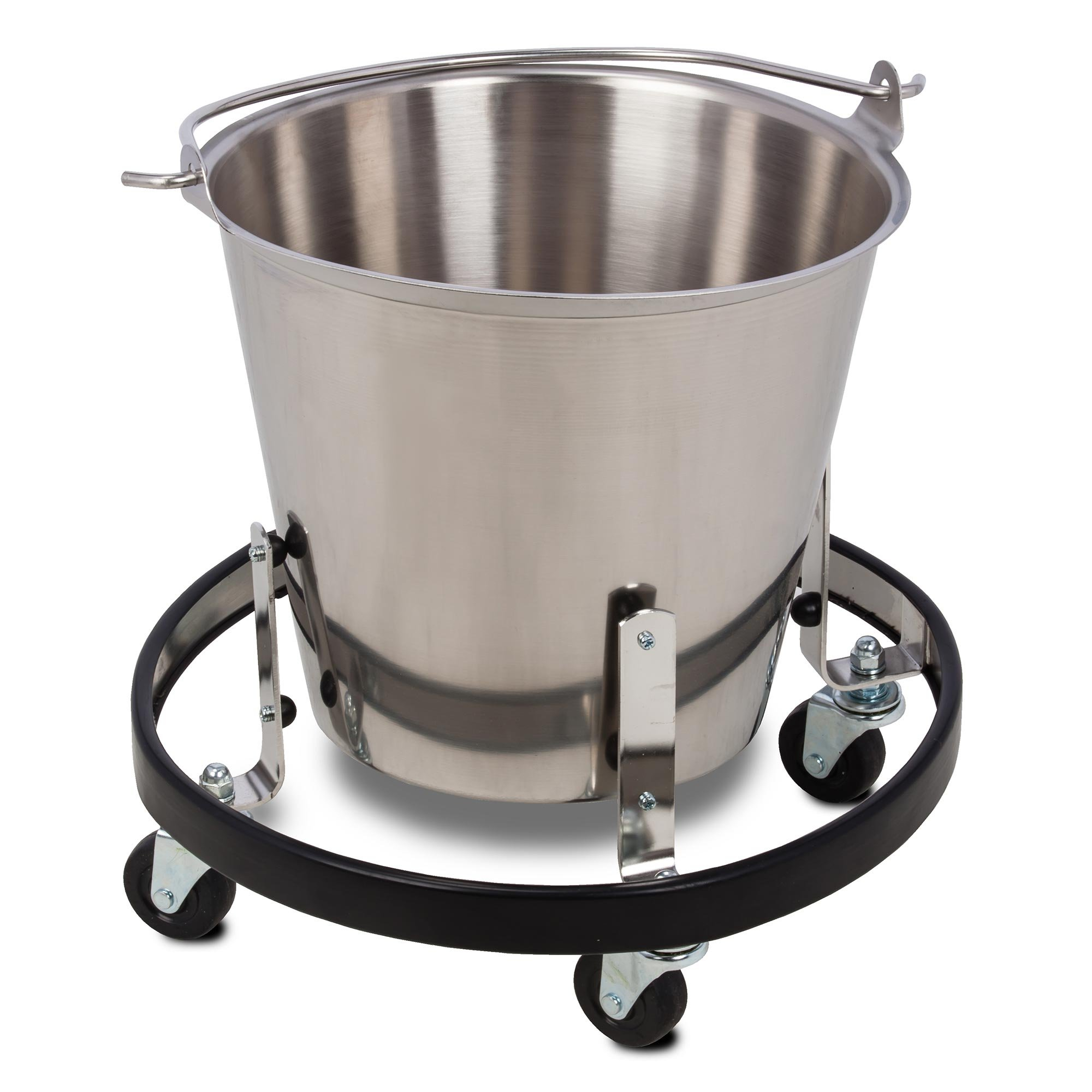 Clinton Stainless Steel Kick Bucket and Frame