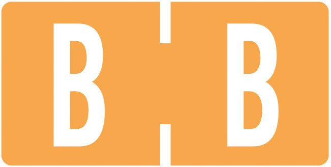 Tab Products Match TBAV Series Alpha Roll Labels - Letter B - Fluorescent Orange
