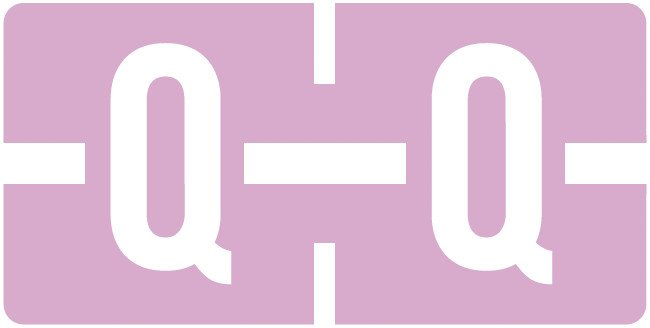 Tab Products Match TBAV Series Alpha Roll Labels - Letter Q - Lilac