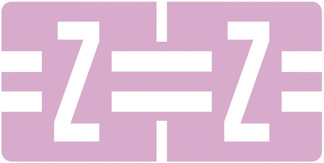 Tab Products Match TBAV Series Alpha Roll Labels - Letter Z - Lilac
