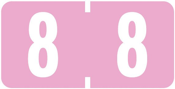 Tab Products Match TBNV Series Numeric Roll Labels - Number 8 - Lilac