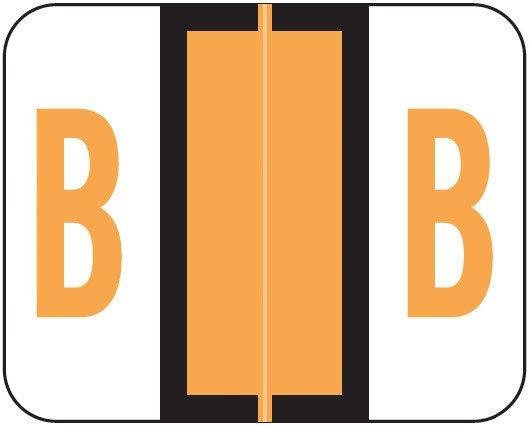Smead BCCR Match TPAM Series Alpha Roll Labels - Letter B - Fluorescent Orange