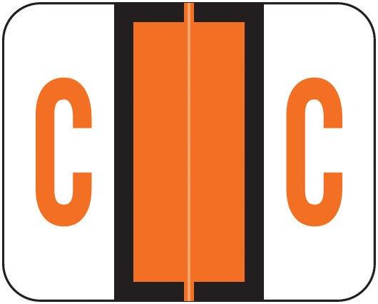 Smead BCCR Match TPAM Series Alpha Roll Labels - Letter C - Orange