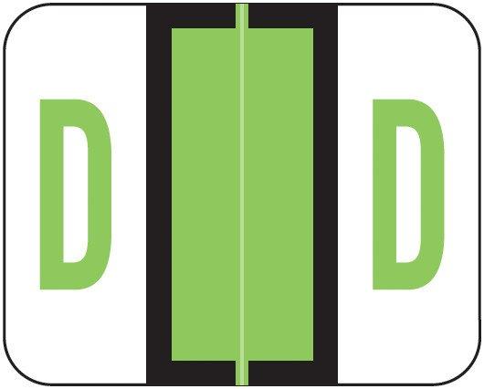 Smead BCCR Match TPAM Series Alpha Roll Labels - Letter D - Fluorescent Green