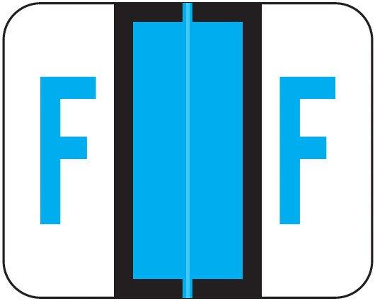 Smead BCCR Match TPAM Series Alpha Roll Labels - Letter F - Blue