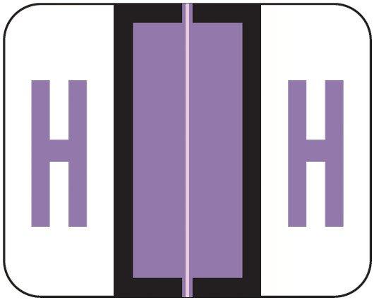 Smead BCCR Match TPAM Series Alpha Roll Labels - Letter H - Lilac