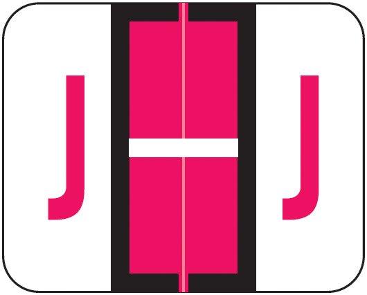 Smead BCCR Match TPAM Series Alpha Roll Labels - Letter J - Red