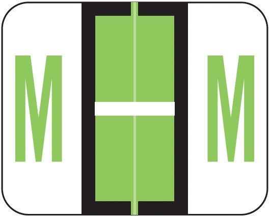 Smead BCCR Match TPAM Series Alpha Roll Labels - Letter M - Fluorescent Green