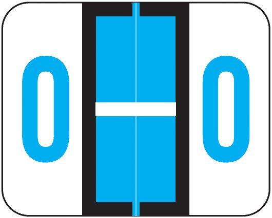 Smead BCCR Match TPAM Series Alpha Roll Labels - Letter O - Blue