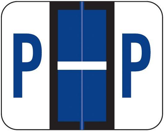 Smead BCCR Match TPAM Series Alpha Roll Labels - Letter P - Purple
