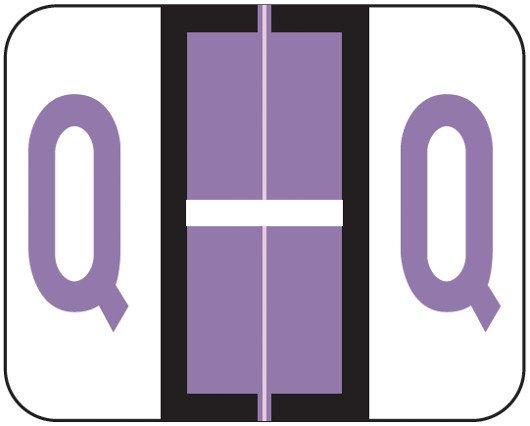 Smead BCCR Match TPAM Series Alpha Roll Labels - Letter Q - Lilac