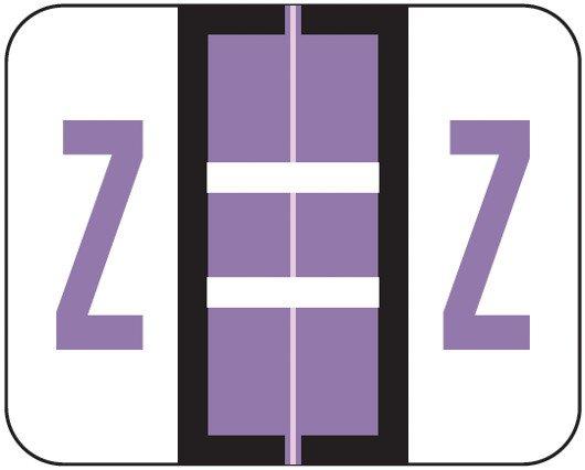Smead BCCR Match TPAM Series Alpha Roll Labels - Letter Z - Lilac