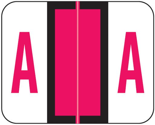 Tab Products Match TPAV Series Alpha Roll Labels - Letter A - Red
