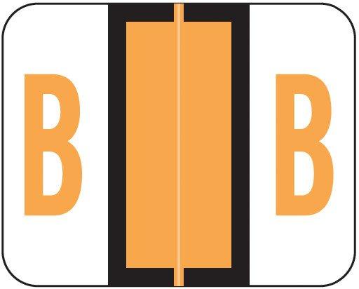 Tab Products Match TPAV Series Alpha Roll Labels - Letter B - Fluorescent Orange
