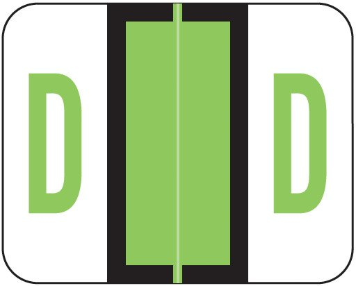 Tab Products Match TPAV Series Alpha Roll Labels - Letter D - Fluorescent Green