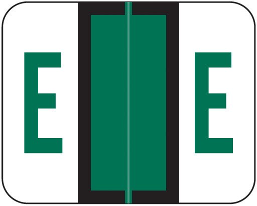 Tab Products Match TPAV Series Alpha Roll Labels - Letter E - Dark Green