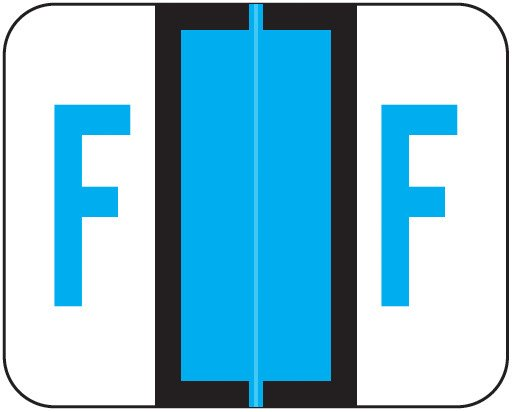 Tab Products Match TPAV Series Alpha Roll Labels - Letter F - Blue