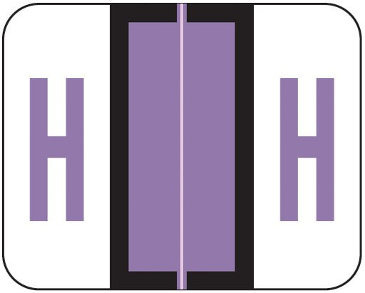 Tab Products Match TPAV Series Alpha Roll Labels - Letter H - Lilac