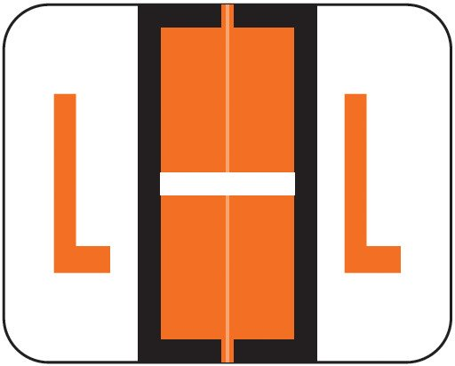 Tab Products Match TPAV Series Alpha Roll Labels - Letter L - Dark Orange
