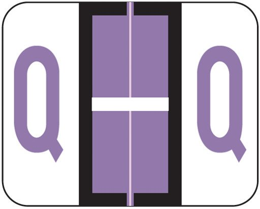 Tab Products Match TPAV Series Alpha Roll Labels - Letter Q - Lilac