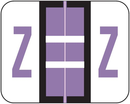 Tab Products Match TPAV Series Alpha Roll Labels - Letter Z - Lilac