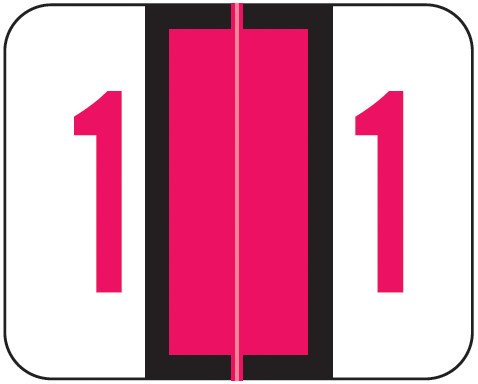 Tab Products Match TPNV Series Numeric Roll Labels - Number 1 - Red
